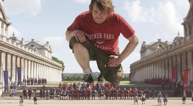 Jack Black as Lemuel Gulliver in the 2010 film Gulliver's Travels
