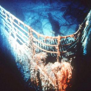This is an undated photo showing the bow of the Titanic at rest on the bottom of the North Atlantic, about 400 miles southeast of Newfoundland. The first tourists to see the bow up close viewed it from the portholes of a tiny submersible in early September. (AP Photo/Ralph White)