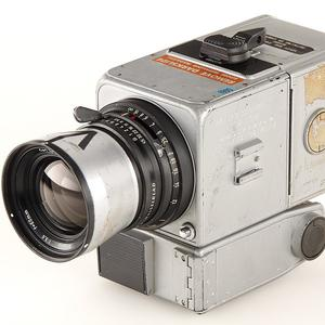 A Hasselblad 500 camera which was part of the equipment carried by the 1971 Apollo 15 mission (AP/Galerie Westlicht)