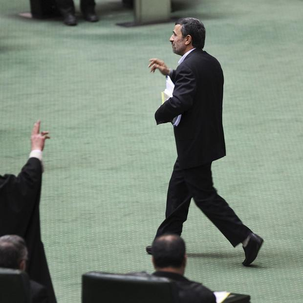 Iranian president Mahmoud Ahmadinejad wants to be the country's first astronaut (AP)