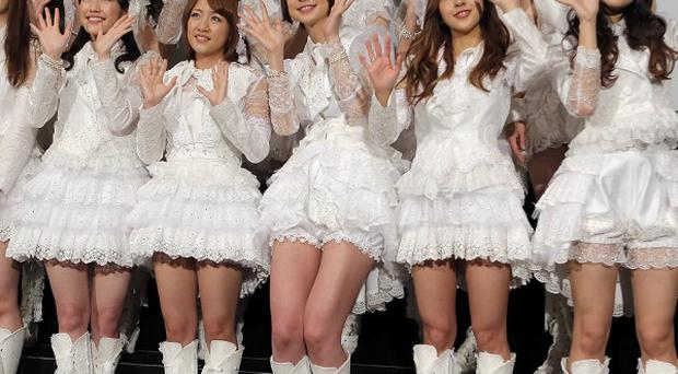 Hugely popular Japanese girl band AKB48 (AP)