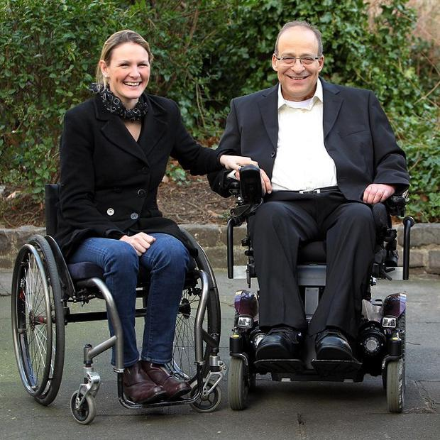 Amit Goffer meets Claire Lomas, who used the ReWalk suit to walk the London Marathon