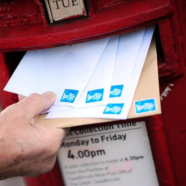 Nearly 25 per cent more letters were posted in Ilford and Romford on Valentine's Day 2012 compared with the same day in 2011