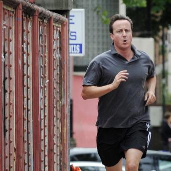 David Cameron tries to go for a run every week