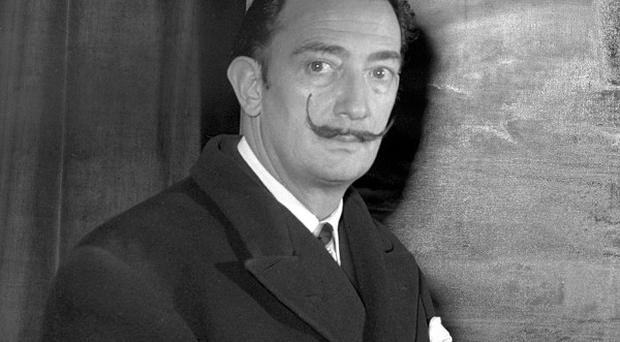 Surrealist painter Salvador Dali, pictured in 1951