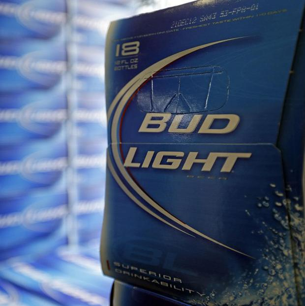Bud Light beer is shown in the aisles of Elite Beverages in Indianapolis (AP)