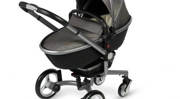 The Aston Martin edition of the Silver Cross Surf pram will be available from April (Silver Cross/PA)