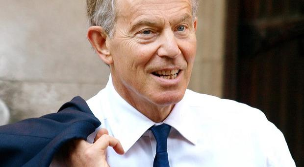 Former Prime Minister, Tony Blair, is followed to almost every public engagement by protesters