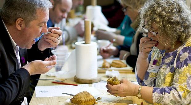 Judges will be tucking into pasties by more than 100 professional and amateur bakers in the World Pasty Championships