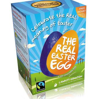 A religious-themed Easter egg, The Real Easter Egg ,which is being stocked by the UK's biggest supermarkets for the first time this year (The Meaningful Chocolate Company/PA)
