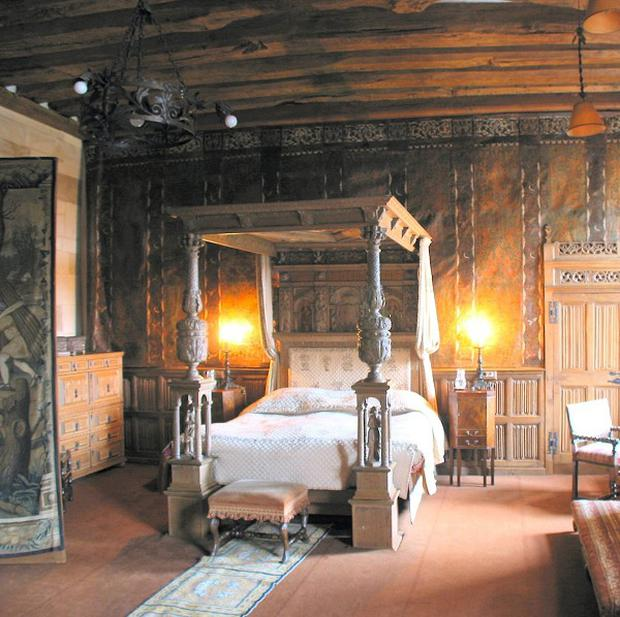 Berkeley Castle's 400-year-old bed has been identified as the oldest still in use in the UK (Berkeley Castle/PA)