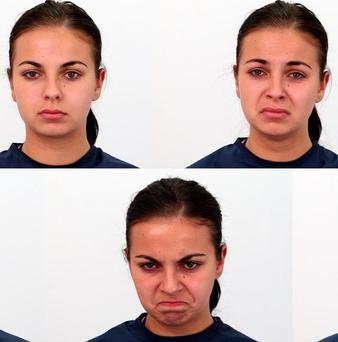 Beautiful people are seen as good looking even when grimacing, according to a study