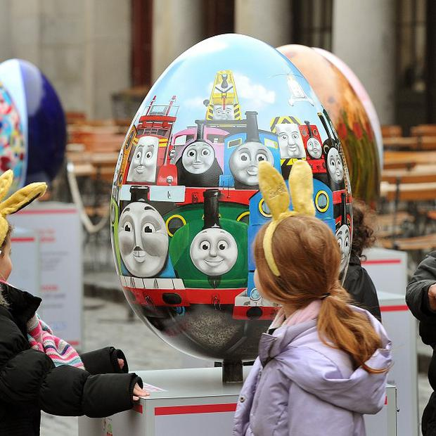 The 2ft-high fibreglass egg is one of more than 100 which were hidden across Glasgow by the charity Action for Children for its Big Egg Hunt