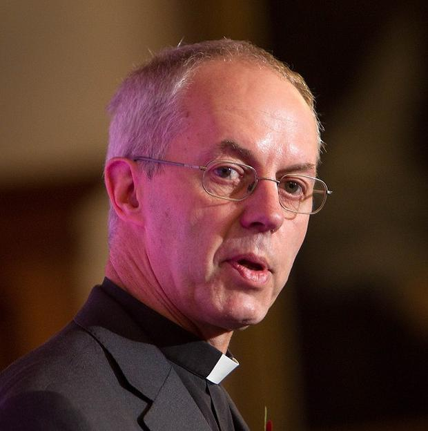 Justin Welby jogged past camera crews setting up in the precincts of Canterbury Cathedral
