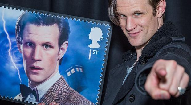 Matt Smith is among the stars featured on the Royal Mail's Doctor Who stamps (Guy Levy/Royal Mail/PA)