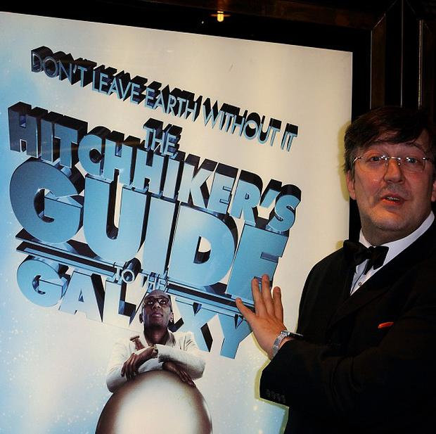 Stephen Fry starred in a 2005 version of Hitchhiker's Guide To The Galaxy