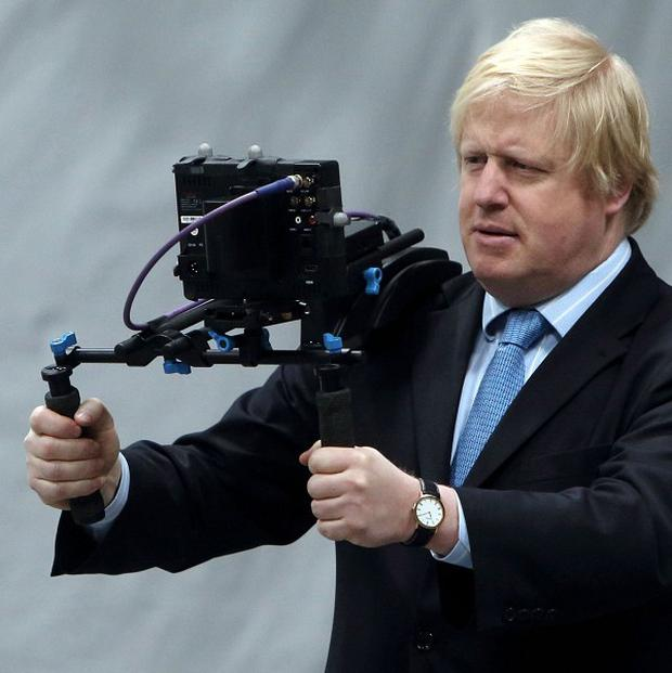 Boris Johnson visits Ealing Studios in west London