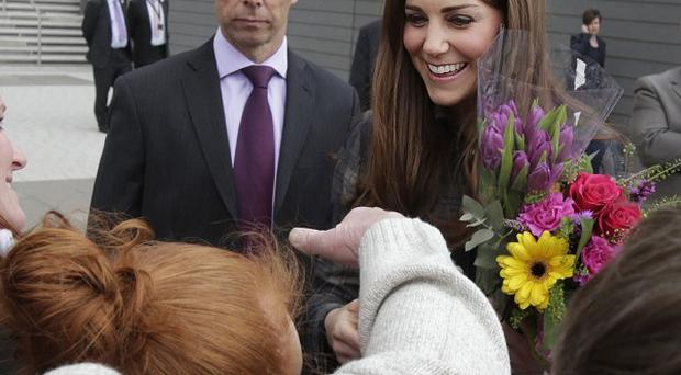 The Duchess of Cambridge during her visit to the Emirates Arena in Glasgow