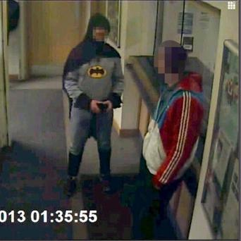 Stan Worby dressed as Batmanas he walked into Trafalgar House police station in Bradford and handed over Daniel Frayne
