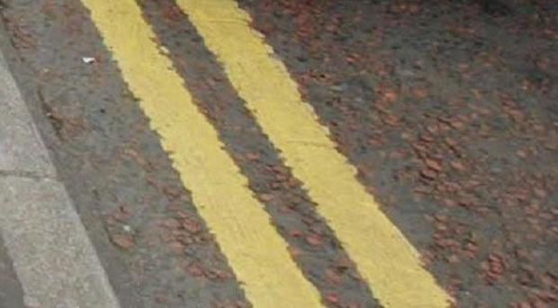 Council workers in Swindon have painted double yellow lines down an alleyway just under one and a half metres wide