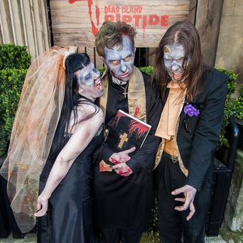 Jennifer Jones and Rob Blackmore tied the knot in the UK's first zombie-themed wedding