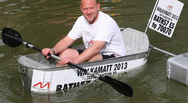 Rob Knapp will paddle 110 miles along waterways in aid of the Matt Hampson Foundation