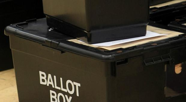 Kent police discovered a mysterious liquid in a ballot box