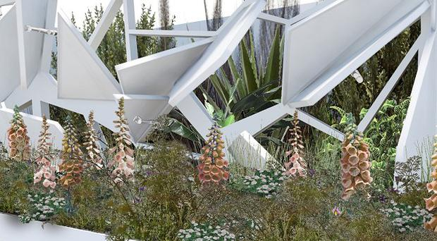 An artist's impression of the Digital Capabilities garden (University of Lincoln/PA)