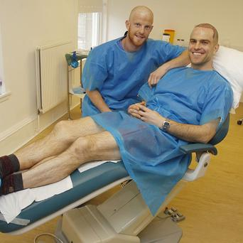 Brothers Barry Cowan, left, and Brian Cowan at the Glasgow Clinic