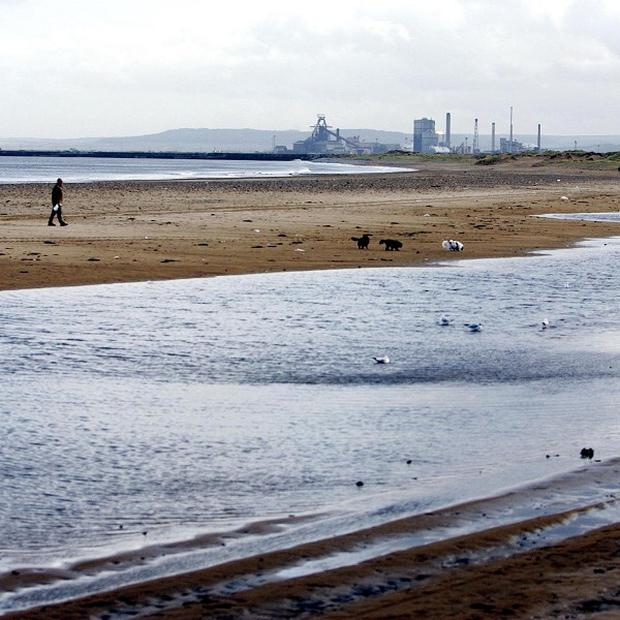John O'Neill fond a wartime grenade buried in the sand at Seaton Carew, Hartlepool