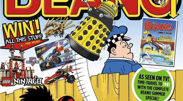 A 1980s edition of The Beano comic spotted in an episode of Doctor Who which has been reprinted for its fans (DC Thomson & Co Ltd /PA Wire)