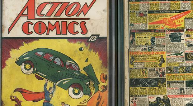 A copy of Action Comics No 1 found by David Gonzales in a house he was renovating (AP/Metropolis Collectibles, Inc/ComicConnect, Corp)