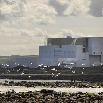Stormy seas have been blamed for an increase in seaweed in the water nearTorness nuclear power station in East Lothian