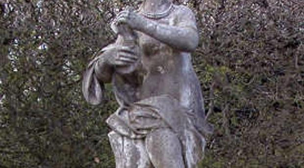 A marble statue of a Greek goddess has been stolen from the grounds of Sissinghurst Castle in Kent