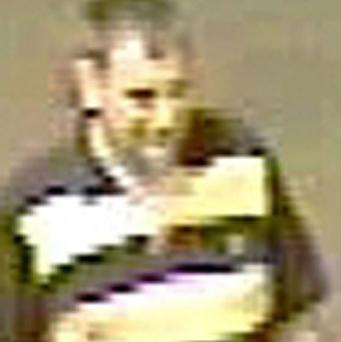 CCTV grab issued by British Transport Police of a man who was seen playing golf at Sunderland's South Hylton station