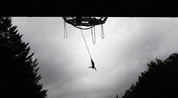 Bob Steele has become Europe's oldest bungee jumper after leaping from the Garry Bridge near Pitlochry
