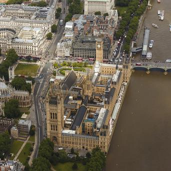 Up to 100,000 pounds is to be spent refurbishing two toilets used by peers and VIP guests at the Palace of Westminster