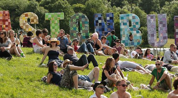 A baby has been born at the Glastonbury festival