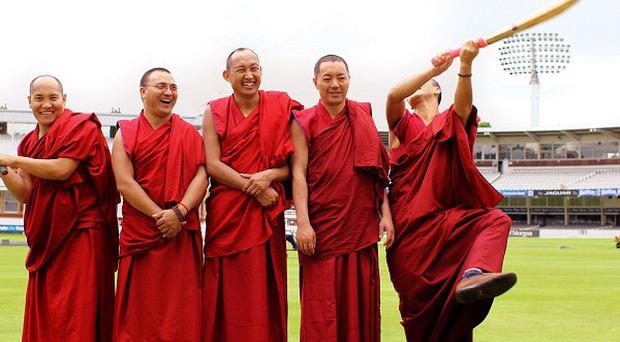 The Gyuto Monks blessed the Lord's playing surface ahead of the forthcoming Ashes Test