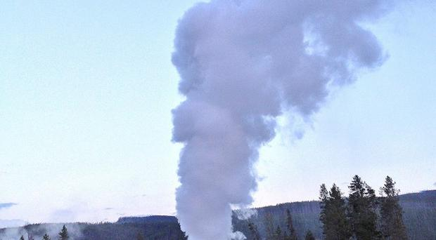 Steamboat Geyser, in Yellowstone National Park, erupts (AP)