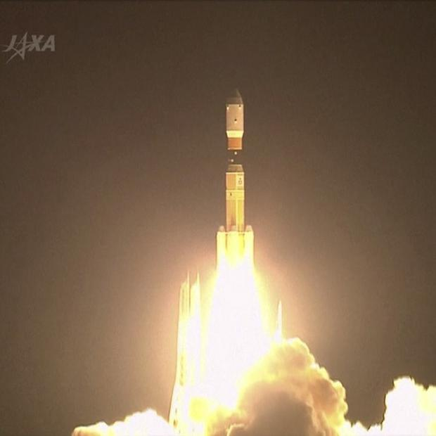 Japan's H-2B rocket lifts off from a launch pad at the Tanegashima Space Center in southern Japan (AP/JAXA)