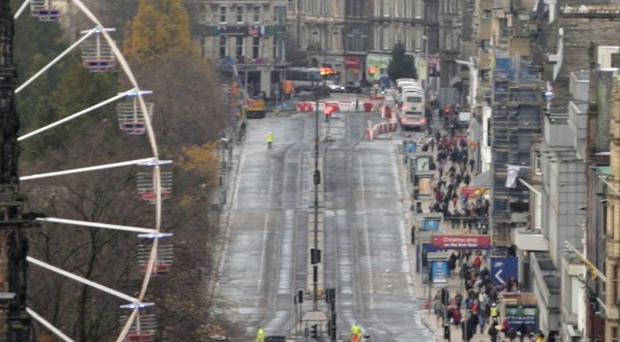 The UK's first Ginger Pride walk is due to start on Princes Street in Edinburgh