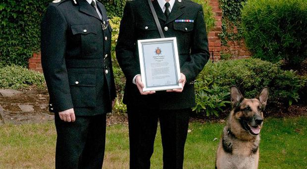 Kaiser is preparing for a well-earned retirement after he was involved in 289 arrests around Essex (Essex Police/PA)