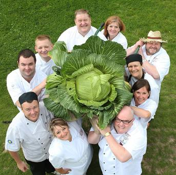 Chefs at the Harrogate Autumn Flower Show hope to make 105 dishes from a single cabbage.