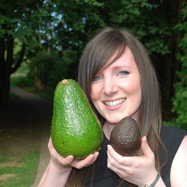 Tesco salads buyer Emma Bonny holding the rare Avozilla (Tesco/PA)