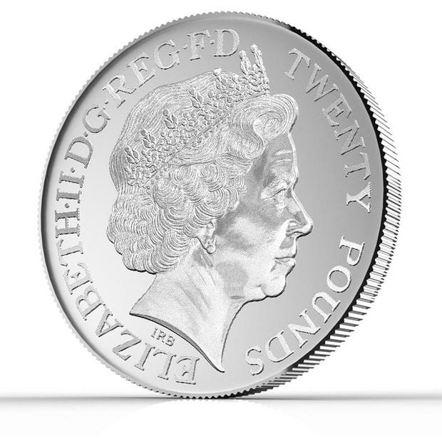 The first ever £20 denomination coin has been announced by the Royal Mint (Hope and Glory PR/PA)
