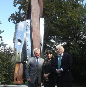 London mayor Boris Johnson has ordered Miya Ando's 9/11 memorial sculpture to be exhibited at Queen Elizabeth Olympic Park.