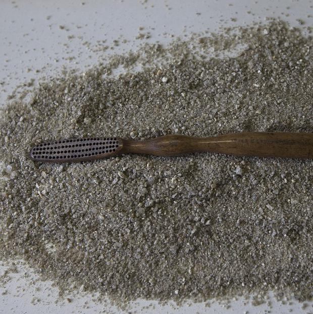 An ivory toothbrush thought to have belonged to Brazil's Emperor Pedro II (AP)