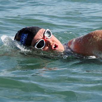 Anna Wardley, 37, is attempting to swim around the Isle of Wight