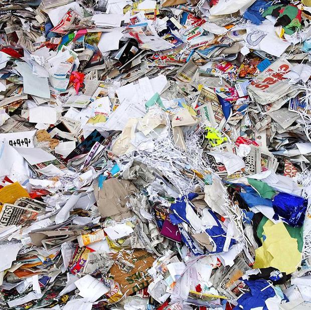 Lucy Binns had to sift through piles of scrap paper at a recycling plant to find her missing documents